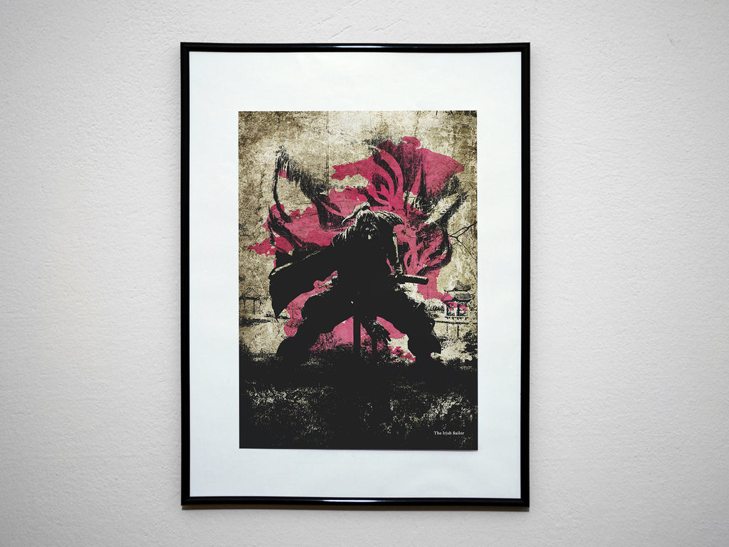 """The Irish Sailor"" - NIOH Video Game Inspired Art Poster Print - Geek Print"