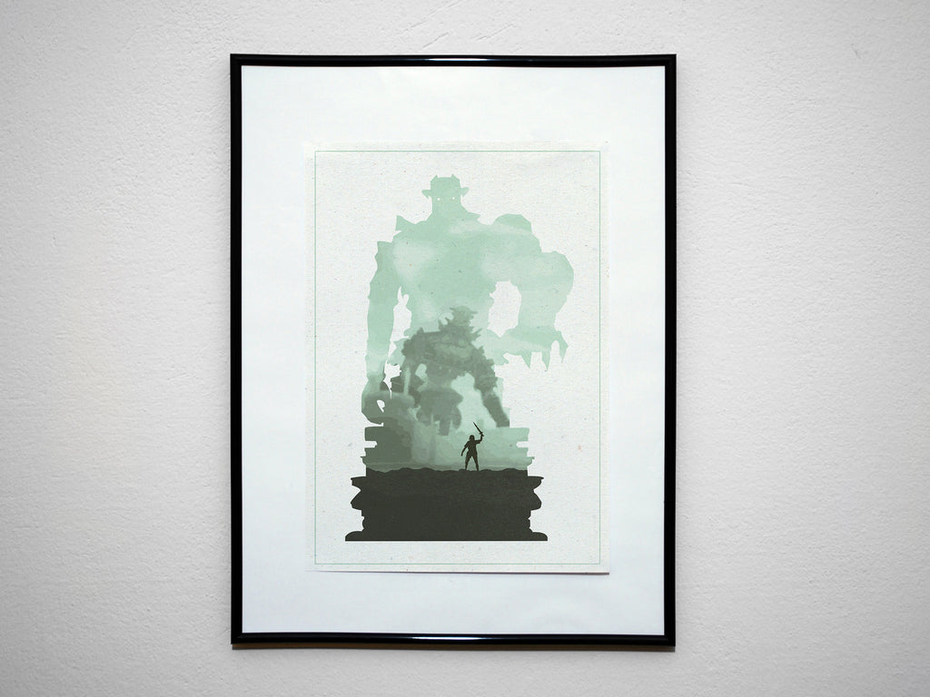 """Colossi"" - Video Game Inspired Art Poster Print - Geek Print"