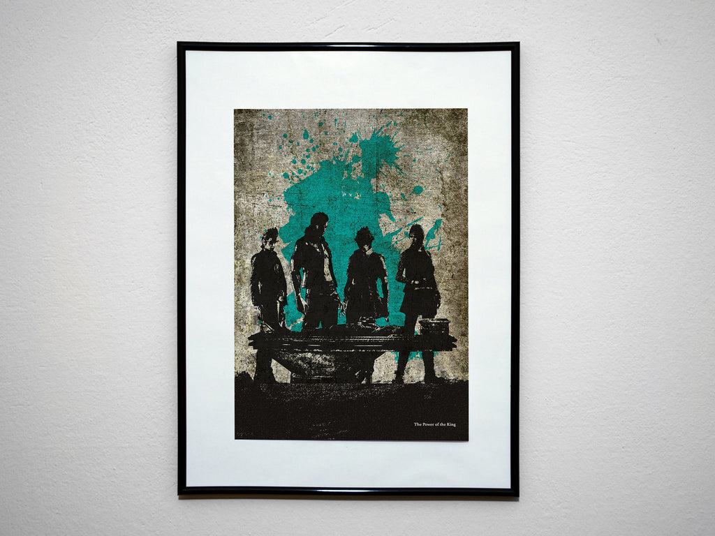 """The Power of the King"" - Video Game Inspired Art Poster Print - Geek Print"