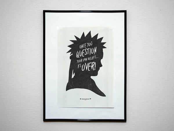 """Once You Question Your Own Beliefs..."" - Uzumaki Anime & Manga Inspirational Art Poster Print - Geek Print"