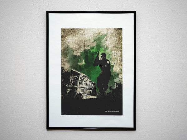 """The Survivor of the Mansion"" - Video Game Inspired Art Poster Print - Geek Print"