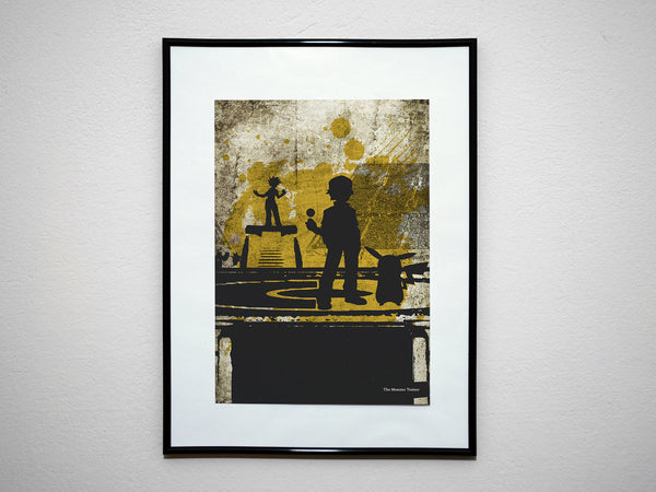 """The Monster Trainer"" - Video Game Inspired Art Poster Print - Geek Print"
