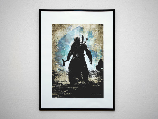 """The Lover of Hounds"" - Assassins Video Game Inspired Art Poster Print - Geek Print"