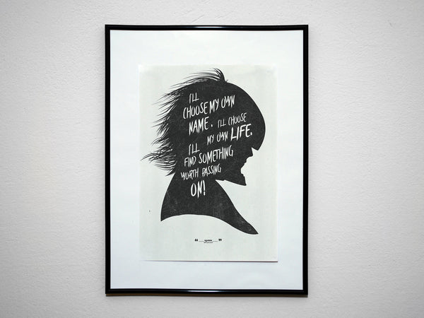 """I Will..."" - MGS Video Game Inspired Motivational Art Poster Print - Geek Print"
