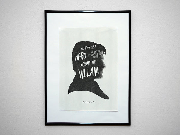"""You Either Die A Hero..."" - DK Super Hero Movie Inspirational Art Poster Print"