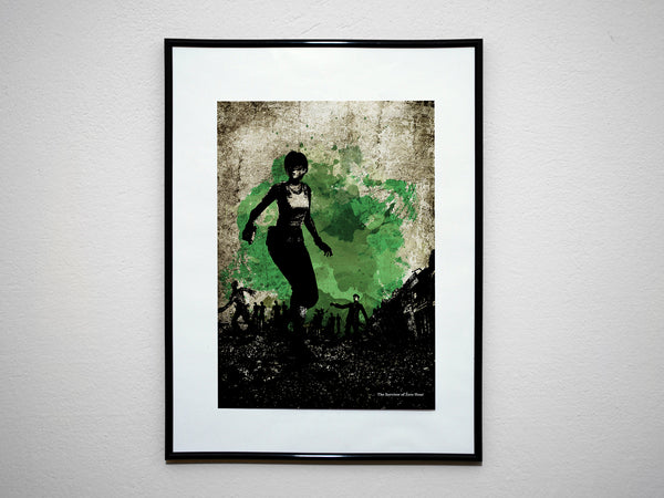 """The Survivor of Hour Zero"" - Survival Horror Video Game Inspired Art Poster Print - Geek Print"