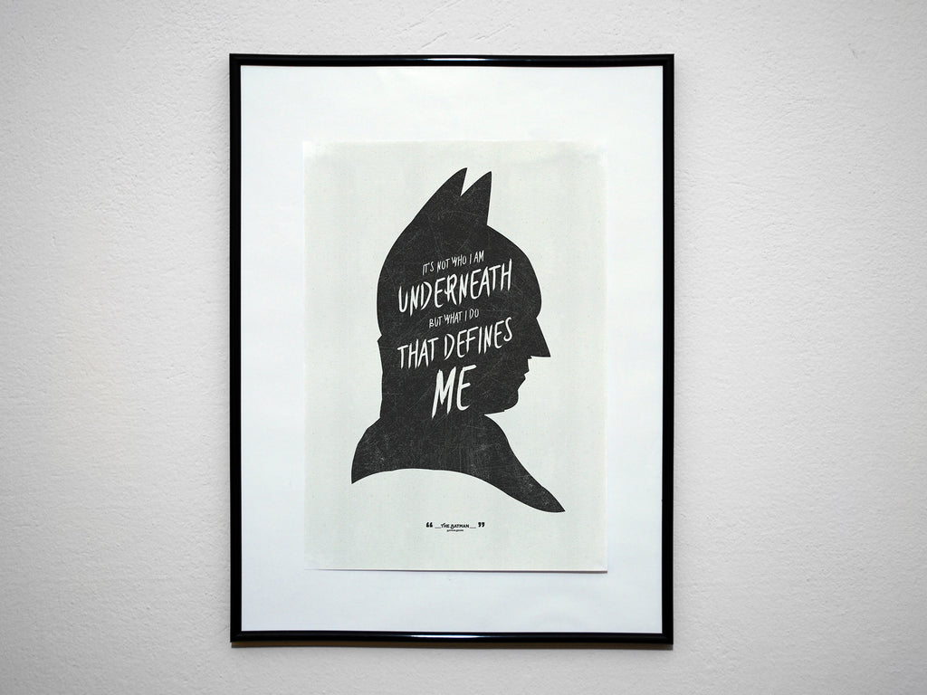 """It's Not Who I Am Underneath..."" - DK Super Hero Movie Inspirational Art Poster Print - Geek Print"