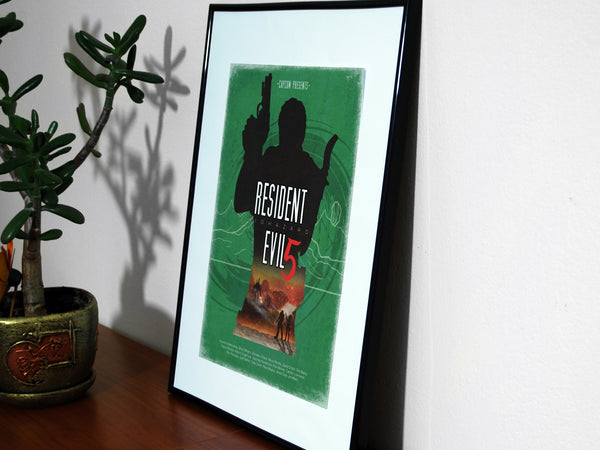 Resident Evil 5 - Video Game Inspired Minimalist Art Poster Print - Geek Print
