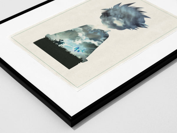 """Friendship"" - Anime & Manga Inspired Art Poster Print - Geek Print"