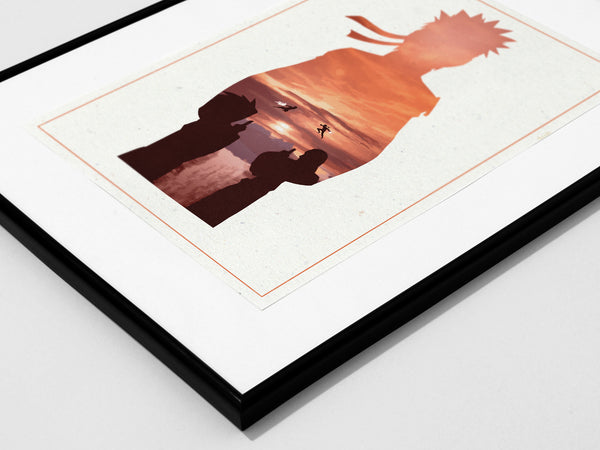 """Shonen Collection"" - 3 Piece Bundle Deal - Anime & Manga Inspired Minimalist Art Prints - Geek Print"