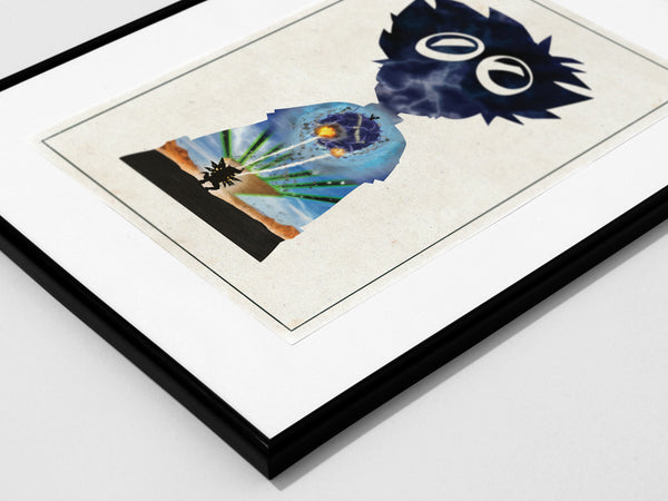 """Courage"" - Anime & Manga Inspired Art Poster Print - Geek Print"