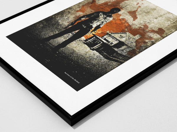 """The Survivor of the molded"" - Video Game Inspired Art Poster Print - Geek Print"
