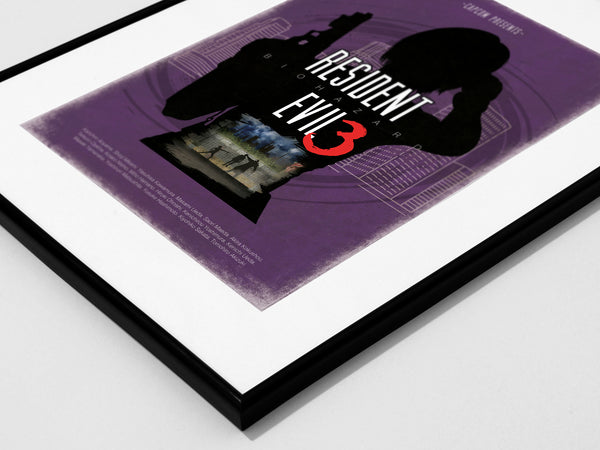 """Resident Evil 3"" - Video Game Inspired Minimalist Art Poster Print - Geek Print"