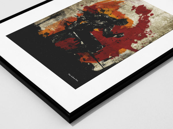"""The Ashen One"" - Video Game Inspired Art Poster Print - Geek Print"