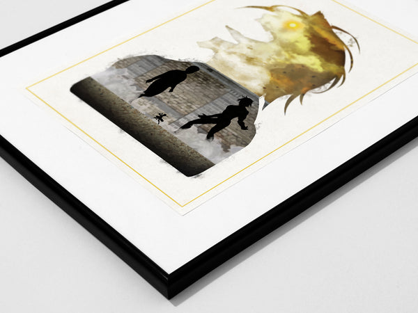 """Counterattack Mankind"" - Attack on Titan Anime Inspired Minimalist Art Poster Print - Geek Print"