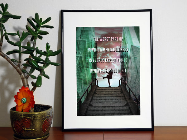 Joker Movie Quote - ‎Joaquin Phoenix Minimalist Print - Geek Print