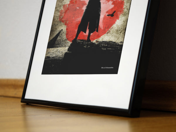 """She of Alexandria"" - Assassins Origins Video Game Inspired Art Poster Print - Geek Print"