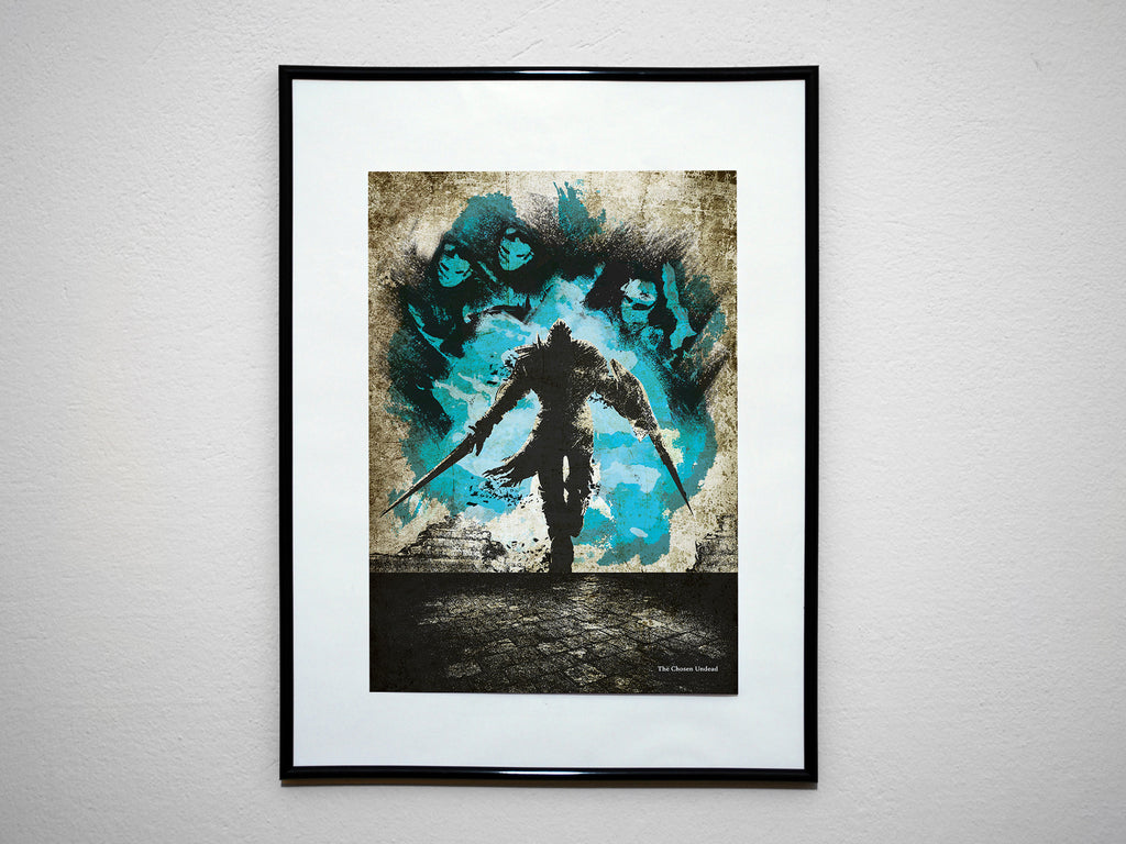 """The Chosen Undead"" - Video Game Inspired Art Poster Print - Geek Print"