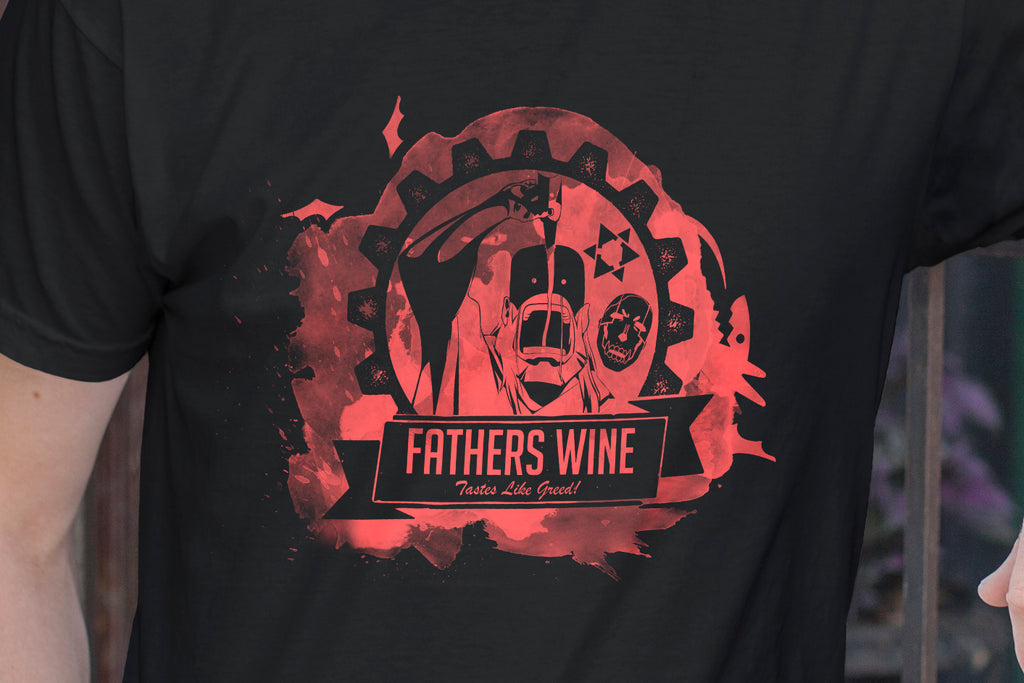 """FATHERS WINE"" - Geeky Anime Cosplay Gear. FMA T-Shirt or Tank. - Geek Print"