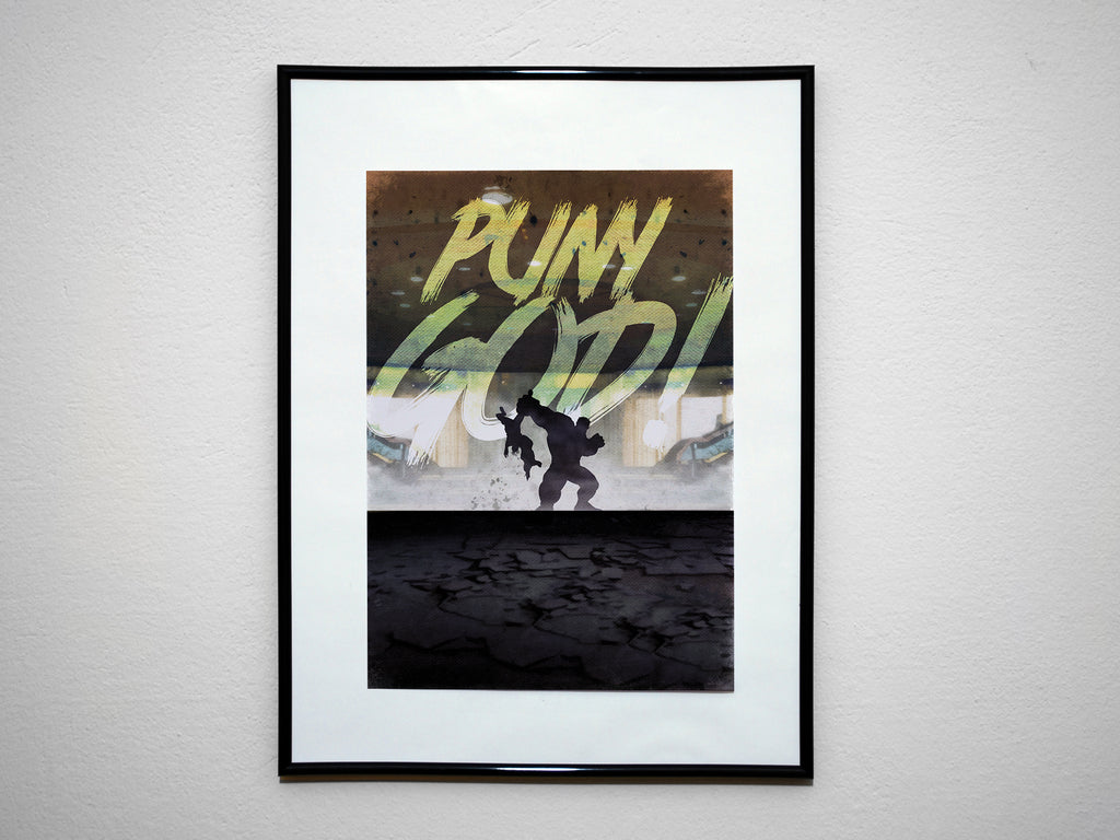 """PUNY GOD"" - Minimalist Hulk Avengers Print. Comic Book Typography Movie Poster. - Geek Print"