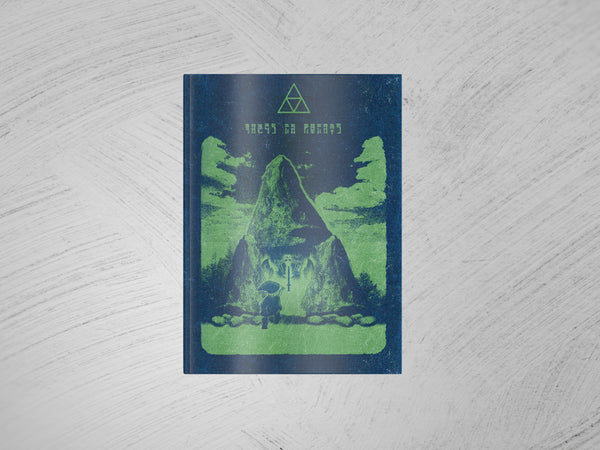 """The Story Of Hyrule"" - Video Game Inspired Minimalist Notebook - Geek Print"