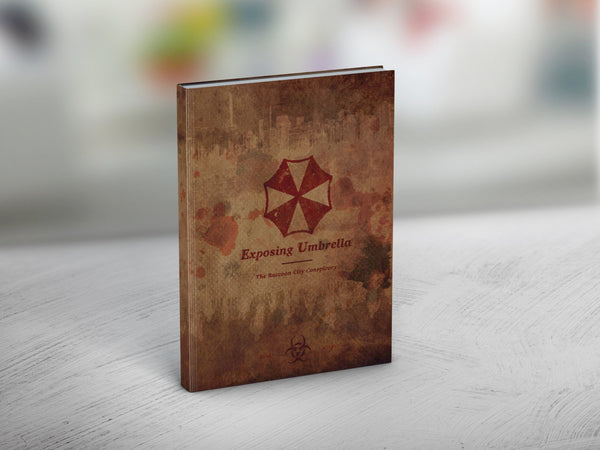"""Exposing Umbrella"" - Resi Inspired Raccoon City Notebook - Geek Print"