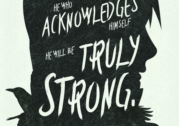 """He Who Knows Himself..."" - Uchiha Anime & Manga Inspirational Art Poster Print - Geek Print"