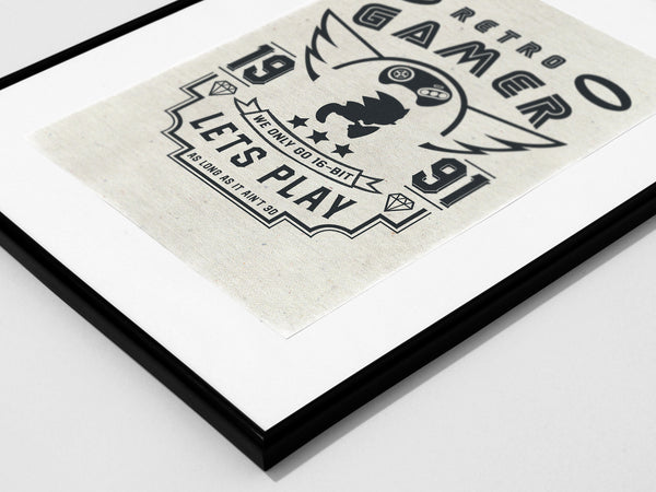 """Retro Gamer"" - Video Game Inspired Art Poster Print - Geek Print"