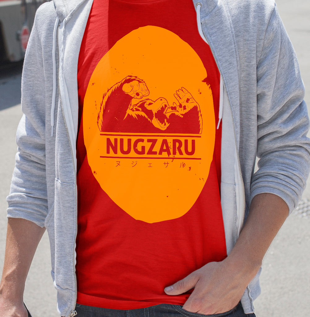 """NUGZARU"" - Geeky Anime Gym Gear. Dragon Ball Z Super T-Shirt or Tank. - Geek Print"