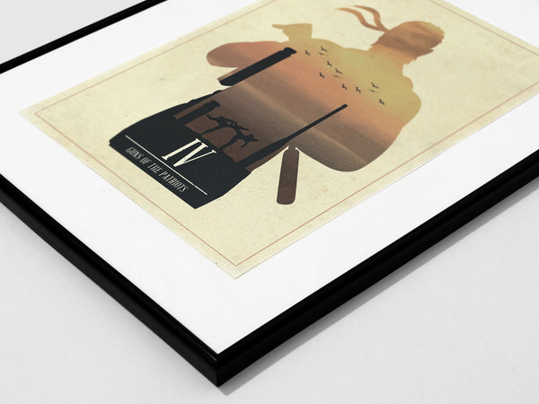 Minimalist Metal Gear Solid Art Poster Print Collection Guns of the Patriots