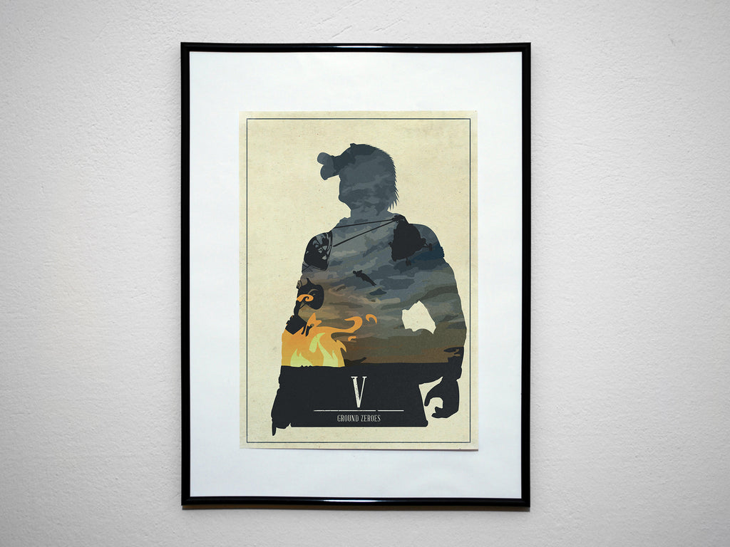 Minimalist Metal Gear Solid Art Poster Print Ground Zeroes Paz Big Boss