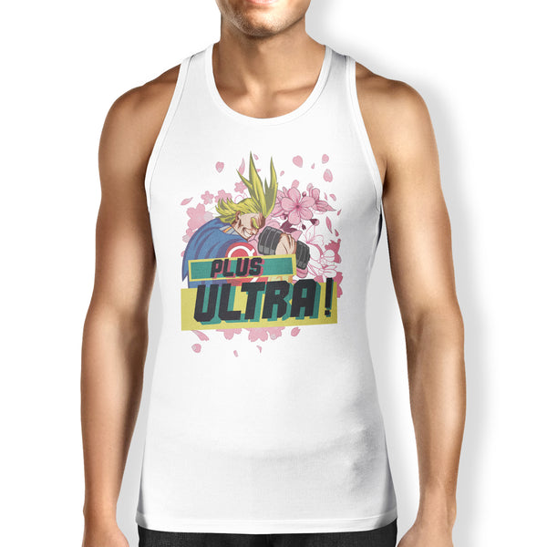"""All Might: PLUS ULTRA"" - MHA Geeky Anime Gym Gear. Fitness T-Shirt or Tank. - Geek Print"