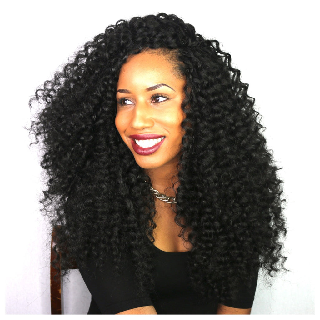 Learn how to install our Nubian curls at a long length - no tangling!