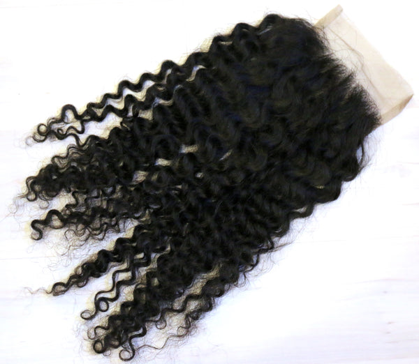 Glorious Kinky Curly Closure - Trendy Tresses