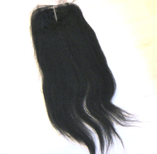 Luxe Kinky Straight Closure - Trendy Tresses