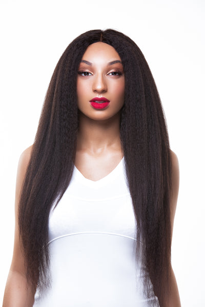 Luxe Kinky Straight Frontal - Trendy Tresses