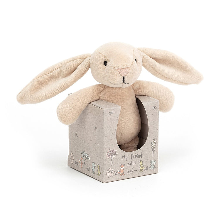 Bunny Rattle - my friend by Jellycat