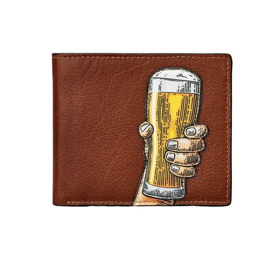 Beer Glass -Cheers Leather Wallet