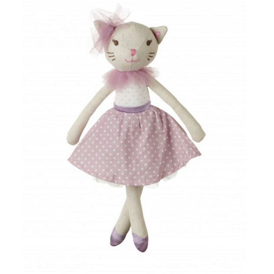 White-cat-cotton-doll-dancer