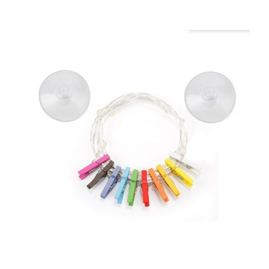 Mini Clothes Peg String Lights