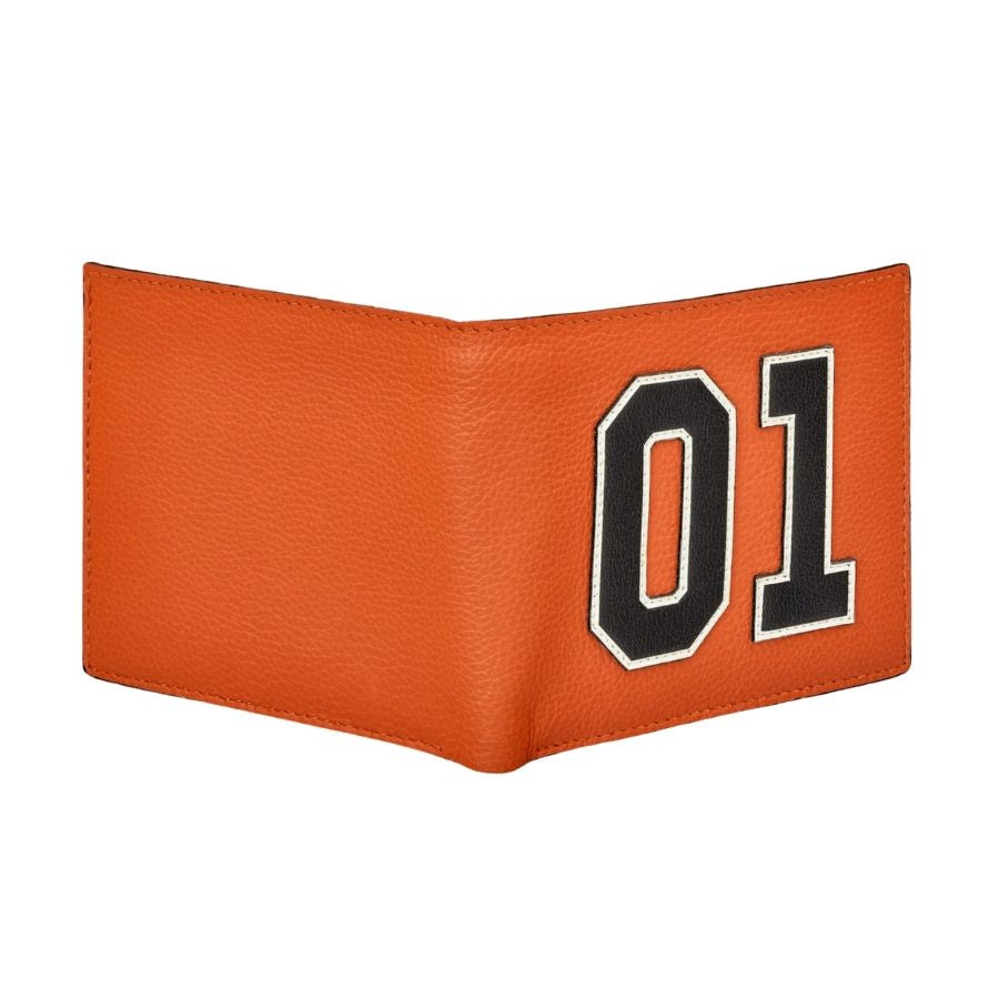 01 Orange Leather Wallet