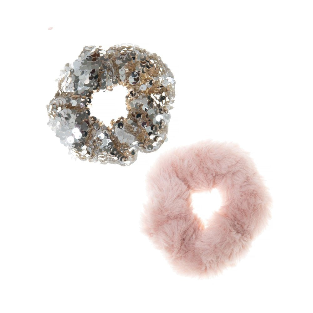 Sequin Shimmer Scrunchie Set