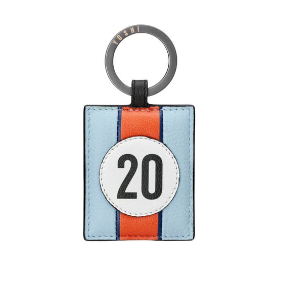 Car Livery No 20 Leather Keyring