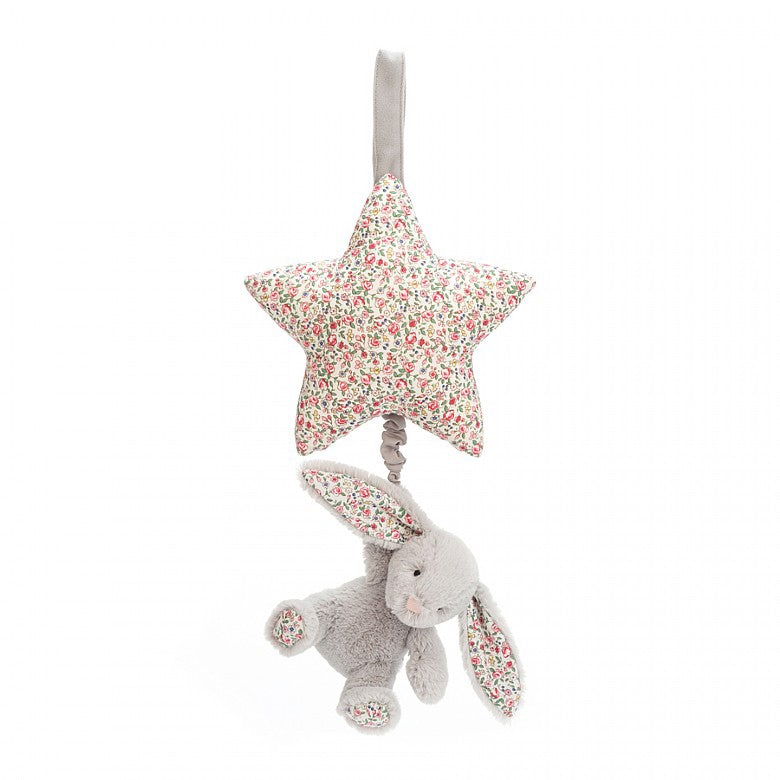 Star Musical Pull -Blossom Silver Bunny by Jellycat