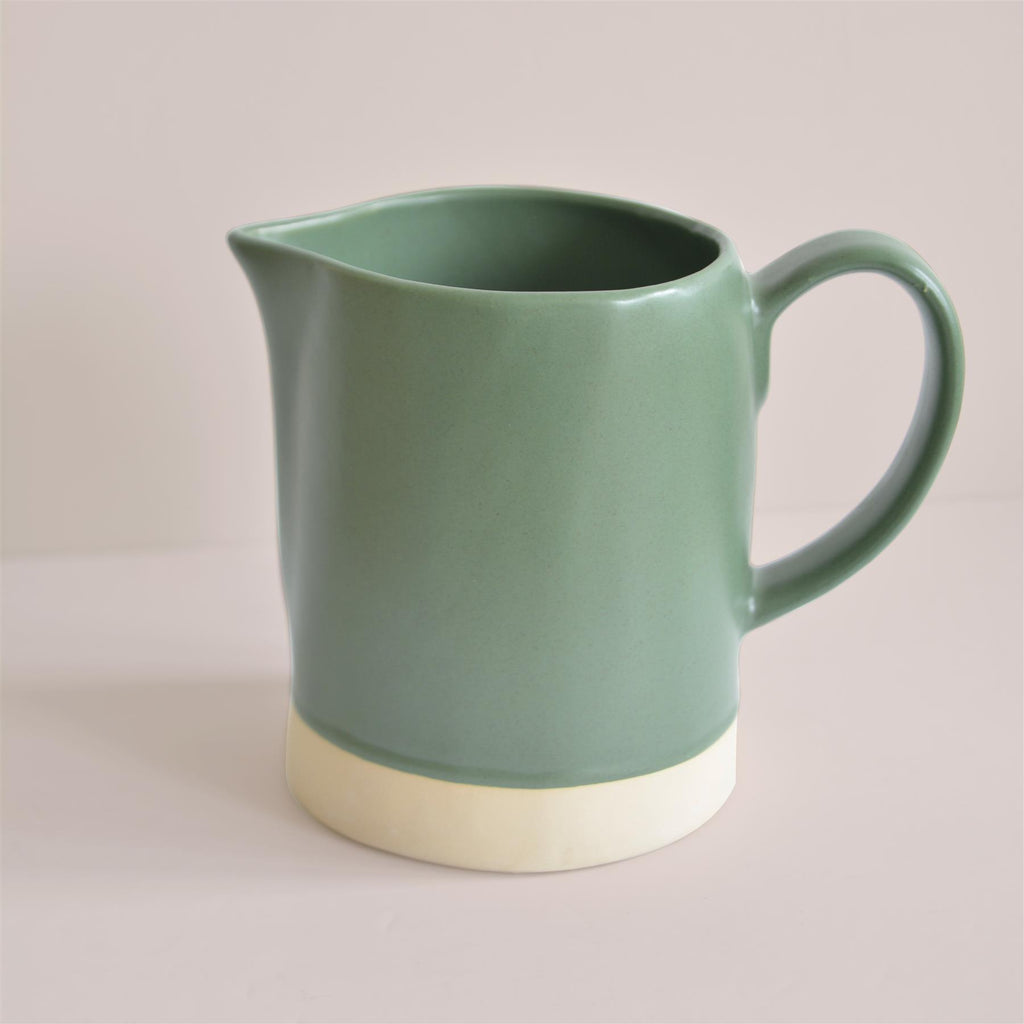 Hand made Jug in Courgette Green