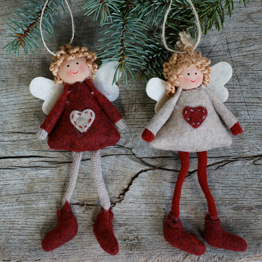 Nordic Christmas Angels - hanging tree decorations