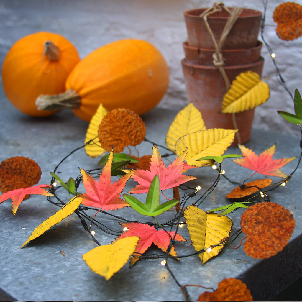 decorative home accessories-autumn leaves lights