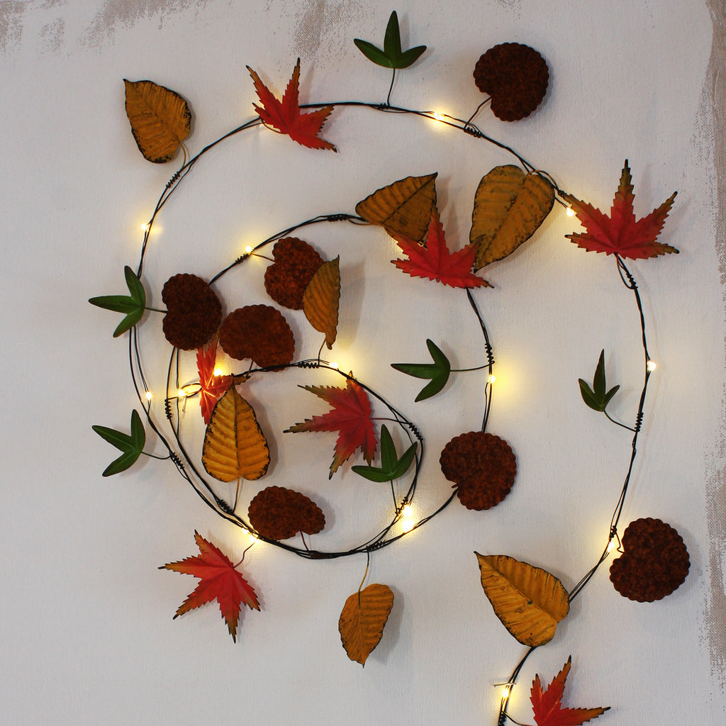Autumn leaf lights -country style home accessories
