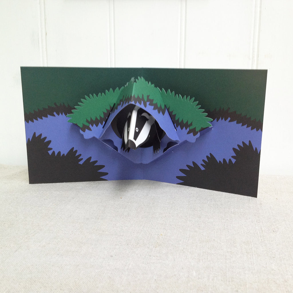 Badger 3D pop up card