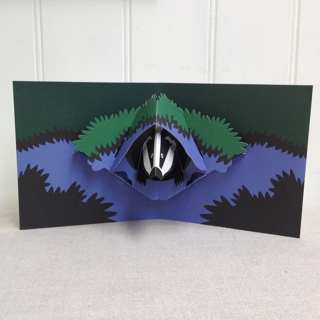 Badger  3D Pop up  greetings card